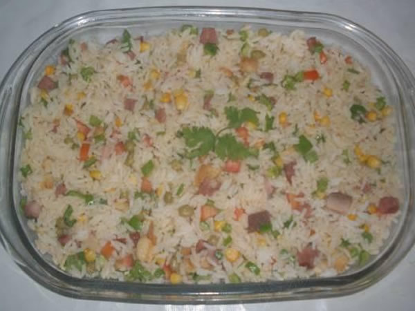 Receita pronta de Arroz Temperado